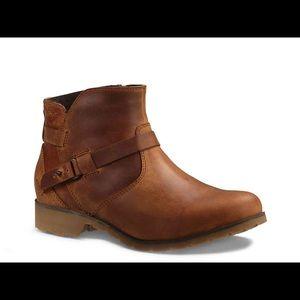 🆕 TEVA de la vina ankle booties brown leather 7